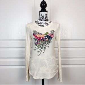 LUCKY BRAND Peace Love Embroidered Dove Thermal